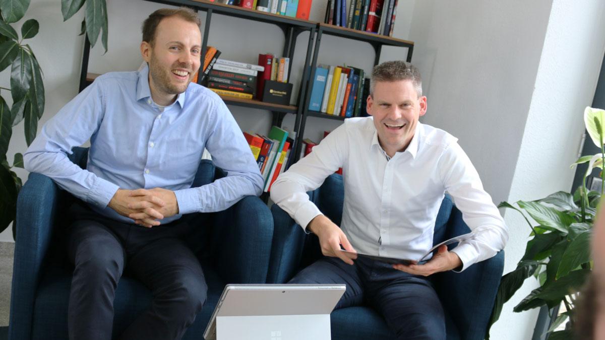 Andreas Scheibe und Christoph Eckstein von Continu-ING