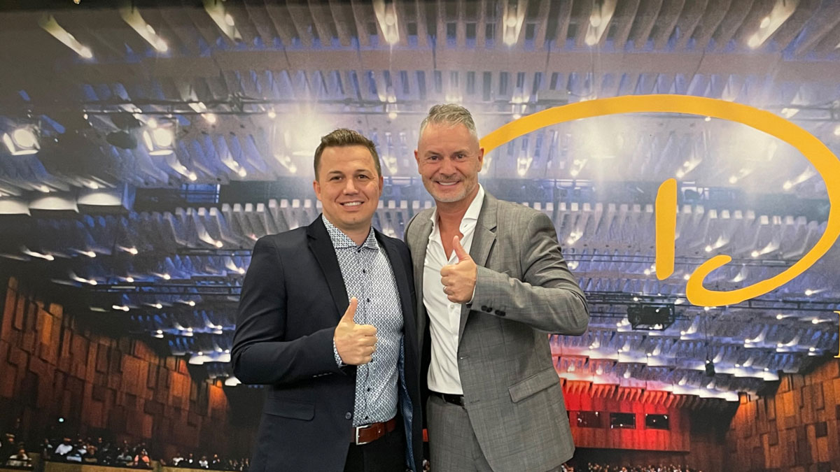 Melik Su von der Peakconcepts GmbH und Dirk Reuter
